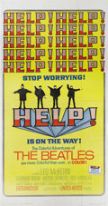 "Movie Posters:Musical, Help (United Artists, 1965). Three Sheet (41"" X 81""). Before therewere music videos, there was ""Help!"", a musical send-up o..."