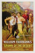 "Movie Posters:Western, Spawn of the Desert (Arrow Film, 1923). One Sheet (27"" X 41""). Silent action star William Fairbanks stars as Duke Steele, a ..."