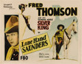 """Movie Posters:Western, Lone Hand Saunders (FBO, 1926). Half Sheet (22"""" X 28""""). Fred Thomson is little remembered today due to the fact that only a ..."""