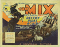 "Movie Posters:Western, Destry Rides Again (Universal, 1932) Title Lobby Card (11"" X 14"").This was Tom Mix's first starring role in a sound film af..."
