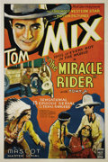 "Movie Posters:Serial, The Miracle Rider (Mascot, 1935). One Sheet (27"" X 41""). The great Tom Mix stars as a Texas Ranger out to avenge his father'..."