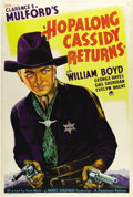 "Movie Posters:Western, Hopalong Cassidy Returns (Paramount, 1936). One Sheet (27"" X 41""). If you've been waiting for a really great Hoppy one sheet..."