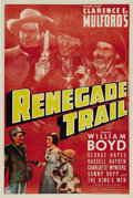 """Movie Posters:Western, Renegade Trail (Paramount, 1939). One Sheet (27"""" X 41""""). Nice Hopalong Cassidy one sheet with great images of Russell Hayden..."""