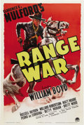 "Movie Posters:Western, Range War (Paramount, 1939). One Sheet (27"" X 41""). This is thoughtto be one of the best of the Paramount one sheets for th..."