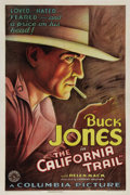 "Movie Posters:Western, California Trail (Columbia, 1933) One Sheet (27"" X 41""). Beautiful,early Buck Jones Western poster co-stars Helen Mack. Unu..."