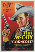 "Movie Posters:Western, Cornered (Columbia, 1932). One Sheet (27"" X 41""). Tim McCoy is Sheriff Tim Marvey, out to prove the innocence of a friend ch..."