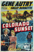 "Movie Posters:Western, Colorado Sunset (Republic, 1939). One Sheet (27"" X 41""). The great Gene Autry and his sidekick Smiley Burnette star in one o..."