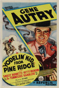 "Movie Posters:Western, Yodelin' Kid from Pine Ridge (Republic, 1937). One Sheet (27"" X 41""). Gene Autry, Republic Pictures' saving grace, was a rad..."