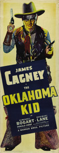 "Movie Posters:Western, the Oklahoma Kid (Warner Brothers, 1939). Insert (14"" X 36""). JamesCagney sytars in this tale of claim jumping during the O..."