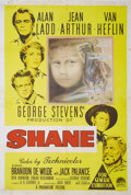 "Movie Posters:Western, Shane (Paramount, 1953). Australian One Sheet (27"" X 40""). AlanLadd rode into film history, not with the noir classics his ..."