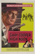 "Movie Posters:Western, High Noon (United Artists, 1952). One Sheet (27"" X 41""). GaryCooper won a Academy Award as a sheriff who learns that a grou..."