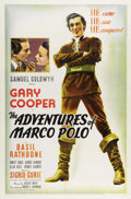 "Movie Posters:Adventure, The Adventures of Marco Polo (United Artists, 1938). One Sheet (27""X 41""). Marco Polo (Gary Cooper) journeys to Peking wher..."
