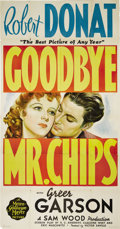"Movie Posters:Drama, Goodbye Mr. Chips (MGM, 1939). Three Sheet (41"" X 81""). RobertDonat stars in the title role (Academy Award, Best Actor, 193..."