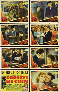 """Goodbye Mr. Chips (MGM, 1939). Lobby Card Set of 8 (11"""" X 14""""). Seven of the cards have pin and staple holes i..."""