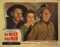 """Of Mice and Men (United Artists, 1939). Lobby Card (11"""" X 14"""").The film adaptation of John Steinbeck's first h..."""