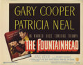 "Movie Posters:Drama, The Fountainhead (Warner Brothers, 1949). Title Lobby Card (11"" X14""). Gary Cooper stars as idealistic architect Howard Roa..."