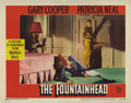 "Movie Posters:Drama, The Fountainhead (Warner Brothers, 1949). Lobby Card (11"" X 14"").Gary Cooper and Patricia Neal are featured on this stunnin..."