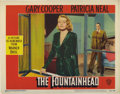 "Movie Posters:Drama, The Fountainhead (Warner Brothers, 1949). Lobby Cards (2) (11"" X14""). Both of these original lobby cards demonstrate distin...(Total: 2 Items)"