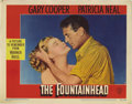 """Movie Posters:Drama, The Fountainhead (Warner Brothers, 1949). Lobby Cards (2) (11"""" X14""""). These two lobby card are in nice condition with only ...(Total: 2 Items)"""