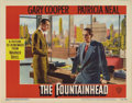 "Movie Posters:Drama, The Fountainhead (Warner Brothers, 1949). Lobby Cards (2) (11"" X14""). These two cards are in very good shape with great col...(Total: 2 Items)"