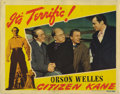 "Movie Posters:Drama, Citizen Kane (RKO, 1941). Lobby Card (11"" X 14""). Orson Wellesdirectorial debut based on the life of publisher William Rand..."