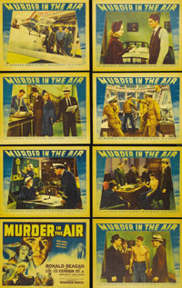 "Murder in the Air (Warner Brothers, 1940). Lobby Card Set of 8 (11"" X 14""). Ronald Reagan plays Brass Bancroft..."