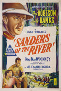 "Movie Posters:Adventure, Sanders of the River (United Artists, 1935). Australian One Sheet(27"" X 41""). Leslie Banks stars as Commissioner Sanders, a..."