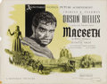 "Movie Posters:Drama, Macbeth (Republic, 1948). Half Sheet (22"" X 28""). Style A. +Thisversion of William Shakespeare's classic play is one of the..."