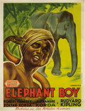 "Movie Posters:Adventure, Elephant Boy (United Artists, 1937). French Grande (47"" X 61"").This is one of the most stunning pieces ever created for a S..."