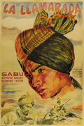 """Movie Posters:Adventure, The Drum (London Film, R-1946). Argentinian One Sheet (29"""" X 43"""").Sabu stars in another adventure for Zoltan and Alexander ..."""