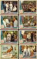 """Movie Posters:Adventure, White Savage (Universal, 1943). Lobby Card Set of 8 (11"""" X 14"""")Great set of Universal Pictures lobby cards starring Maria M...(Total: 8 Items)"""