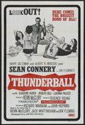 "Movie Posters:James Bond, Thunderball (United Artists, R-1970s). Australian One Sheet (27"" X 40""). James Bond. ..."
