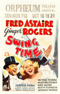 "Movie Posters:Musical, Swing Time (RKO, 1936). Window Card (14"" X 22"").. ..."