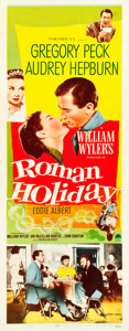 "Movie Posters:Romance, Roman Holiday (Paramount, 1953). Insert (14"" X 36"").. ..."