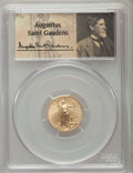 Modern Bullion Coins, 2015 $5 Tenth-Ounce Gold Eagle, Wide Reeds, First Strike, Saint-Gaudens, MS70 PCGS. PCGS Population (100). NGC Census: (0)....