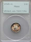 Mercury Dimes: , 1945-S 10C MS66 PCGS. PCGS Population (2863/402). NGC Census: (2765/1458). Mintage: 41,920,000. Numismedia Wsl. Price for p...