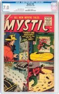 Golden Age (1938-1955):Horror, Mystic #39 (Atlas, 1955) CGC FN/VF 7.0 Cream to off-white pages....