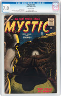 Silver Age (1956-1969):Horror, Mystic #54 (Atlas, 1956) CGC FN/VF 7.0 Off-white pages....