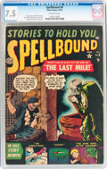 Golden Age (1938-1955):Horror, Spellbound #8 (Atlas, 1952) CGC VF- 7.5 Off-white pages....