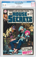 Bronze Age (1970-1979):Horror, House of Secrets #86 (DC, 1970) CGC NM 9.4 White pages....