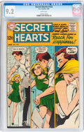 Silver Age (1956-1969):Romance, Secret Hearts #133 (DC, 1969) CGC NM- 9.2 White pages....