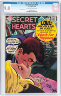 Silver Age (1956-1969):Romance, Secret Hearts #134 (DC, 1969) CGC VF/NM 9.0 Off-white to whitepages....