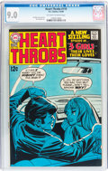 Silver Age (1956-1969):Romance, Heart Throbs #119 (Quality/DC, 1969) CGC VF/NM 9.0 Off-white towhite pages....
