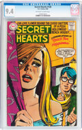 Silver Age (1956-1969):Romance, Secret Hearts #128 (DC, 1968) CGC NM 9.4 Off-white to whitepages....