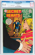 Silver Age (1956-1969):Horror, Secret Hearts #130 (DC, 1968) CGC NM 9.4 White pages....
