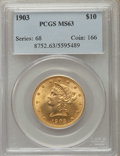 Liberty Eagles: , 1903 $10 MS63 PCGS. PCGS Population (143/49). NGC Census: (111/41). Mintage: 125,800. Numismedia Wsl. Price for problem fre...