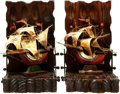 Books:Furniture & Accessories, [Bookends]. Pair of Spanish Sailing Ships. Ca. 1960.... (Total: 2Items)