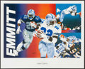 Football Collectibles:Others, Dallas Cowboys Greats Signed Lithographs Lot of 3....