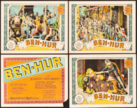 """Ben-Hur (MGM, 1925). Title Lobby Card and Lobby Cards (3) (11"""" X 14""""). ... (Total: 4 Items)"""