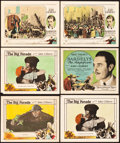 """Movie Posters:War, The Big Parade and Bardelys The Magnificent (MGM, 1925 and 1926).Title Lobby Card and Lobby Cards (5) (11"""" X 14"""").. ... (Total: 6Items)"""